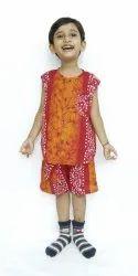 Multicolor Girl & Boy 110 Kids Sleeveless Baba Suit