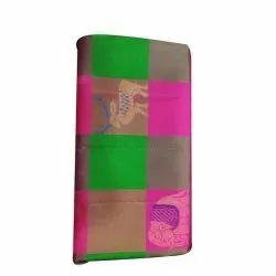 6.3 m (with blouse piece) Green, Pink Party Wear Banarasi Silk Saree