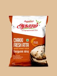 Indian Wheat Aagaaram Chakki Fresh Atta, Packaging Type: Packet, 5months