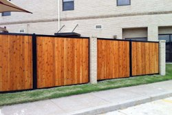 Brown Aluminium HPL Sheet Double Gate, For Home