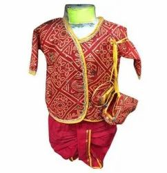 Cotton Kids Red Ethnic Suit
