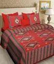 Cotton Jaipuri Double Bed Sheet (Sanganeri)