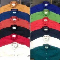 Raj Collection Full Sleeves Cotton Plain Shirt, Size: M To Xl