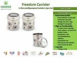 Coconut Canister C-Thru Canister (MRP 399 - Set of 2)