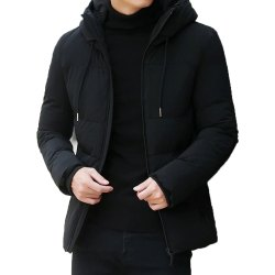 Full Sleeve Polyester Men Black Casual Jacket