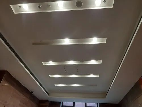 White Gypsum False Ceiling Services, Thickness: 12 Mm