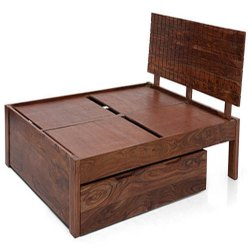Rosewood Brown Modern Storage Bed, For Home, Size: 212 X 160 Cm