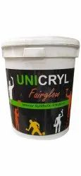 High Sheen Unicryl Fairglow Interior Synthetic Emulsion Paint, Packaging Type: Bucket, Packaging Size: 4 L