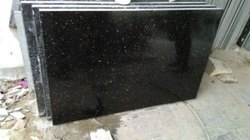 Black Galaxy Granite Slab, For Flooring And Kitchen, Thickness: 15-30 mm