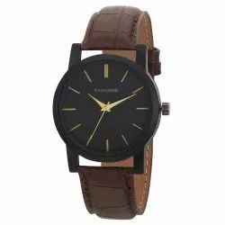 Beinvaders Round Wrist Mans And Boy Brown Strap Watch, For Daily