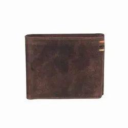 Brown Men Classic Bi Fold Wallet