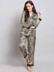 Xivir Fashion Printed Full Sleeve Girls Night Wear Pyjama Set, Size: Free Size