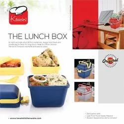 KEWIN Lunch Box for Office and School Plastic 850ml