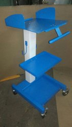 Wemake Blue ICU Medical Trolley For Hospital Machine, Size: 1 Mtr Height