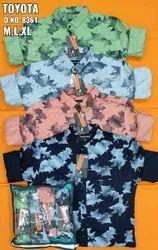 Cotton Printed Party Wear Lycra Shirt