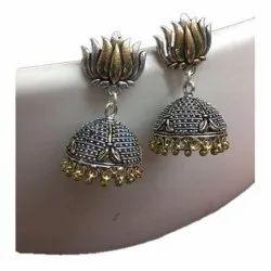 Textured Jhumka Earrings
