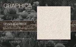 Ceramic Gloss Beige Vitrified Tiles, Thickness: 12 mm