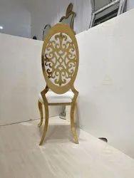 Polished Designer Metal Chair, For Restaurant