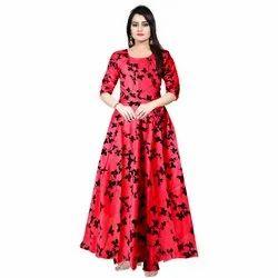 Pink Rayon Women Wedding Gown, Size: Free Size