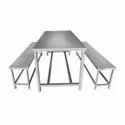 Matt Stainless Steel Canteen Table