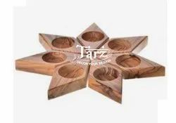 Wooden Candle Holder- 01
