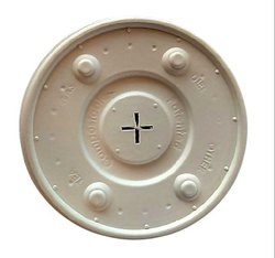 Zume White Beverage Glass Lid - 90 mm (cold), For Packaging