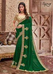 Green Designer Silk Saree