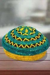 Multicolor Handcrafted Sikki Grass Chapatti Box, For Home, Size/Dimension: 22.86 X 22.86 X 15.24 Cm