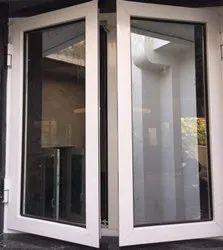 Royal Innovation Modern White Frame Aluminium Hinged Window, For Residential & Commercial