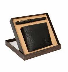 Bi Fold LP- 24 Personalized Men Black Leather Wallet