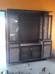 Brown Wooden PVC TV Cabinet, For Home, Living Room