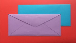 Bedi Innovation Purple and Blue Plain Paper Envelope, Rectangular, Size: 8x5 Inches