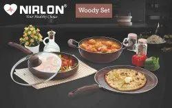 Nirlon Non Stick Woody Cookware Set