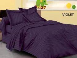 Satin Stripe Dyed Purple Sheet