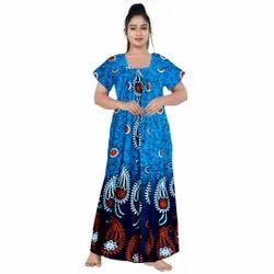 Casual Blue Indian Women Gorgeous Maxi