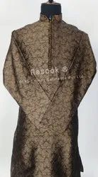 Brown Brocade Kurta Pajama