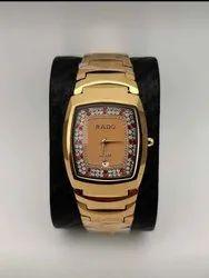 Rado Round Golden Watch For Mens