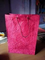 棉布棉布处理粉红色手提袋,购物,袋大小:18 X 30英寸