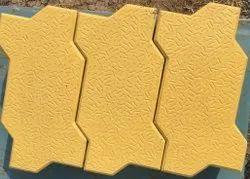 concrete Yellow Zig Zag Paver Blocks, Thickness: 60
