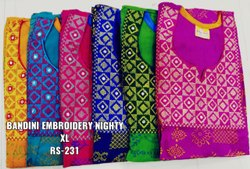 Lady Embroidery Nighty