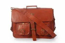 Brown Plain Messengers Briefcases