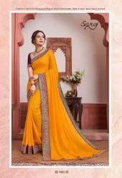 Yellow Color Beautiful Silk Saree