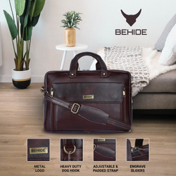 Solid Brown Leather Executive Bags