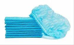 Sky Blue Non Woven Disposable Bouffant Cap, Size: 18