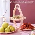 Foldable Fruit Plate Candy Dish,  Fruit and Vegetable Holder,- Foldable Fruit Plate Candy Dish