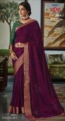 Vipul Fashion Launch Polo Juliet Banarasi Border Chiffon Saree Collections