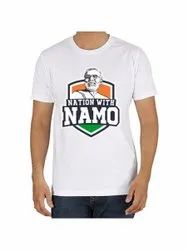 Half Sleeves Cotton Men Election Campaign Printed T Shirt, Size: S-XL