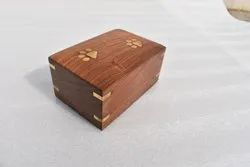 Square Polished Wooden Brown Box, For Home, Size: 8x5 Inches