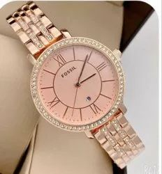 ROSE GOLD Fossil Watches, Model Name/Number: Fossilchain