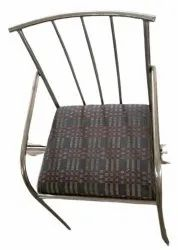 Silver Stainless Steel SS Cushion Dining Chair
